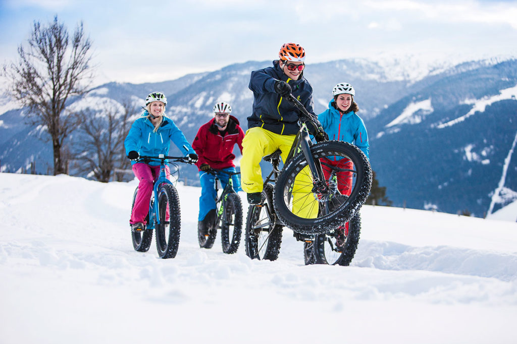 Fatbiken im Winterurlaub in Flachau, Ski amadé
