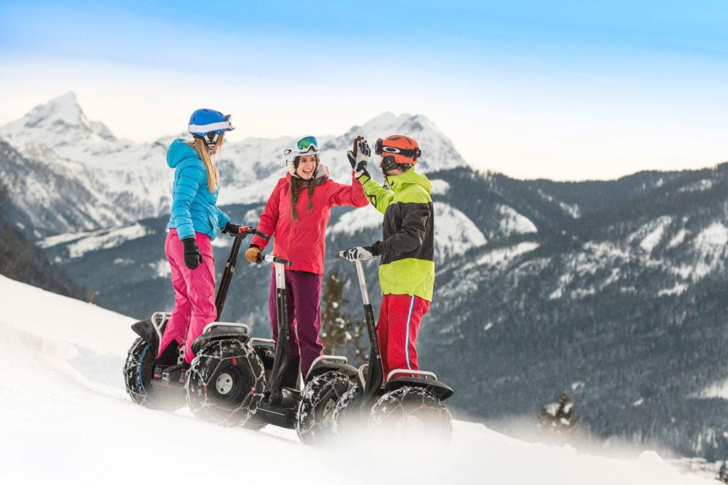 Segway im Winterurlaub in Flachau, Ski amadé